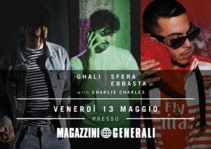 Milano: Sfera Ebbasta, Charlie Charles e Ghali in concerto ai Magazzini Generali