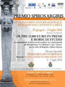 Premio Spiros Argiris 2016 Città di Sarzana