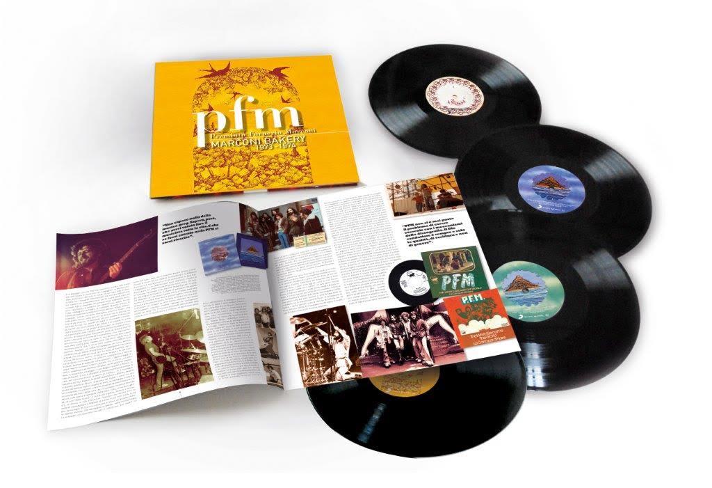 Nuovo cofanetto con 3 album della Premiata Forneria Marconi: Marconi bakery 1973-1974