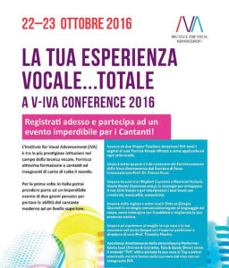 V-IVA Conference 2016: i segreti del canto moderno svelati in due giorni di workshop