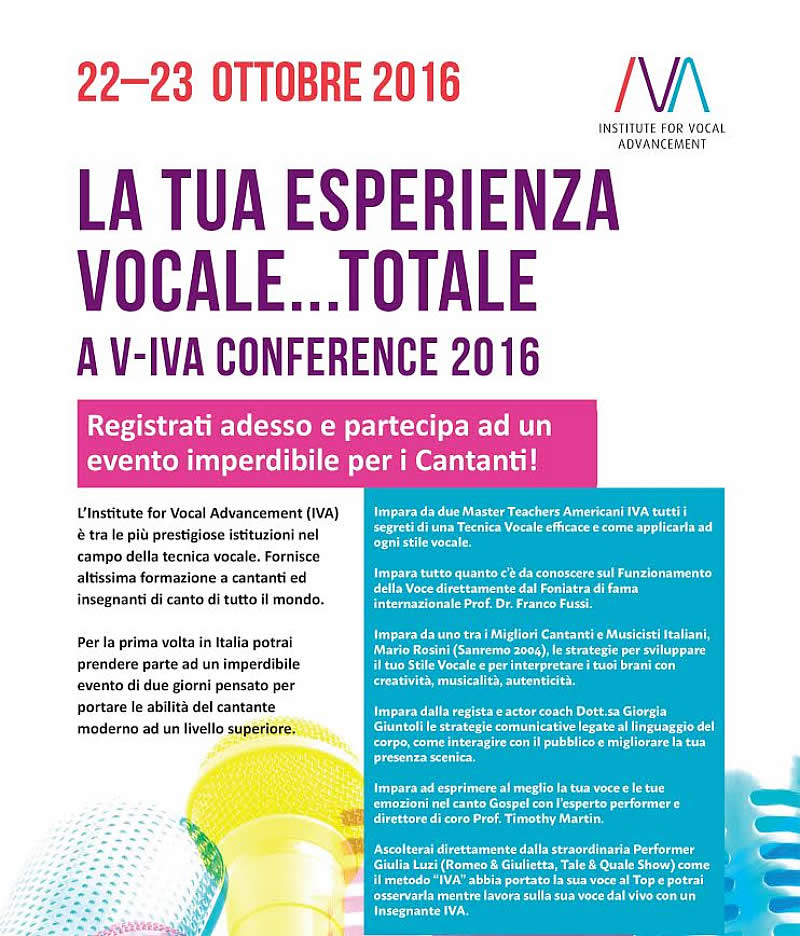 V-IVA Conference 2016 Roma