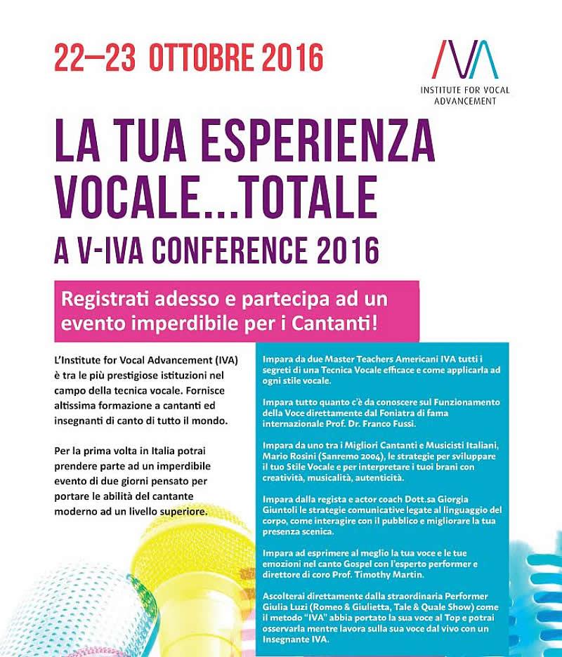 V-IVA Conference 2016 Roma