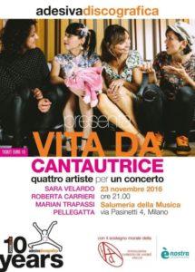 """Milano il 23 novembre si tinge di rosa con """"Vita da Cantautrice"""""""