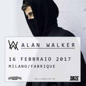 Nel 2017 il Fabrique di Milano ospita l'unica data italiana per il dj Alan Walker 1
