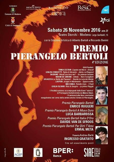 Manifesto Premio Pierangelo Bertoli 2016