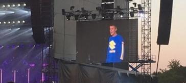 Justin Bieber entusiasma il pubblico dal palco degli I-Days di Monza