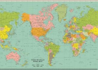 The World Song Map: la mappa del mondo con i titoli delle canzoni 1