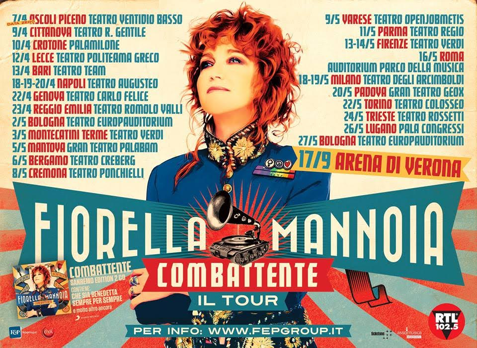 Fiorella Mannoia: Combattente il Tour, tutte le date