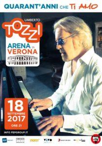 """Umberto Tozzi live all'Arena di Verona per i 40 anni di """"Ti amo"""" 1"""