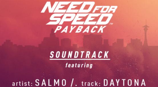Need for Speed Payback, Salmo nella tracklist ufficiale del videogioco