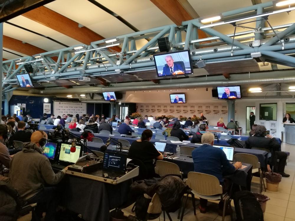 Conferenza Stampa Sanremo 2018 - Sala stampa Lucio Dalla