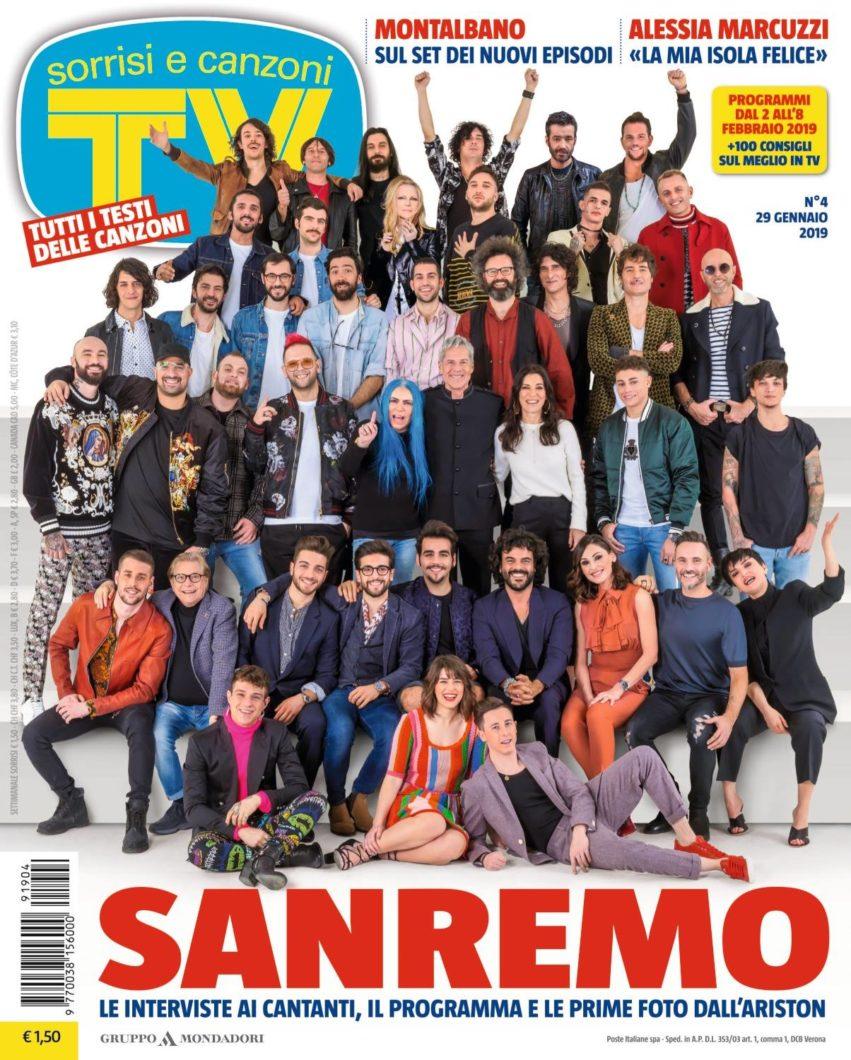 """Sanremo 2019: da """"Tv, Sorrisi e canzoni"""", testo dei testi 1"""