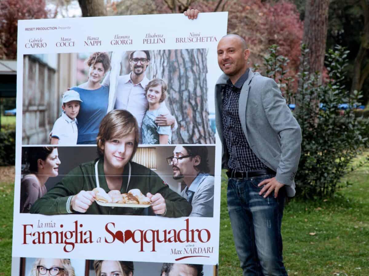 Max Nardari cartellone film Famiglia a Soqquadro