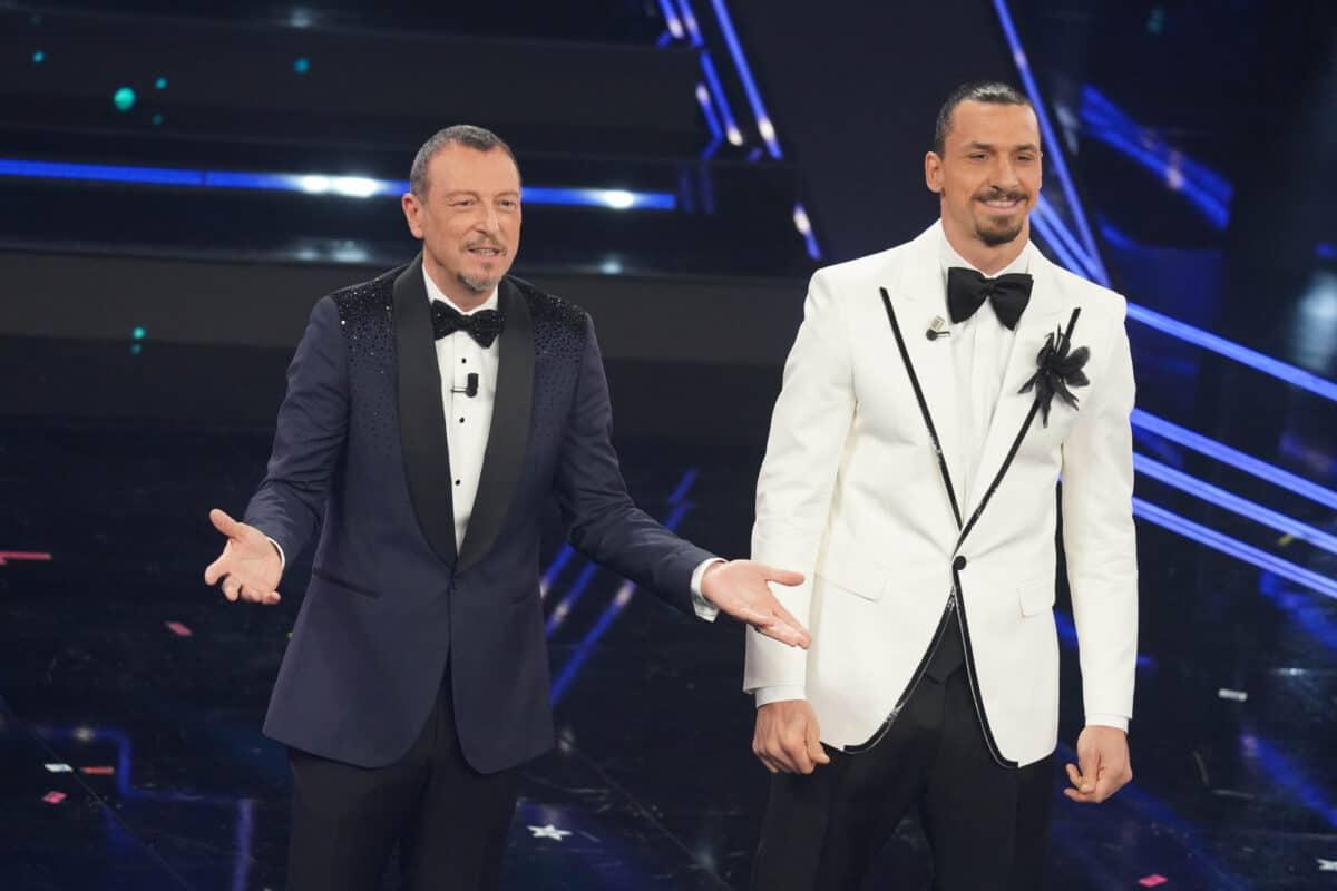 Sanremo 2021, Amadeus e Ibrahimovic