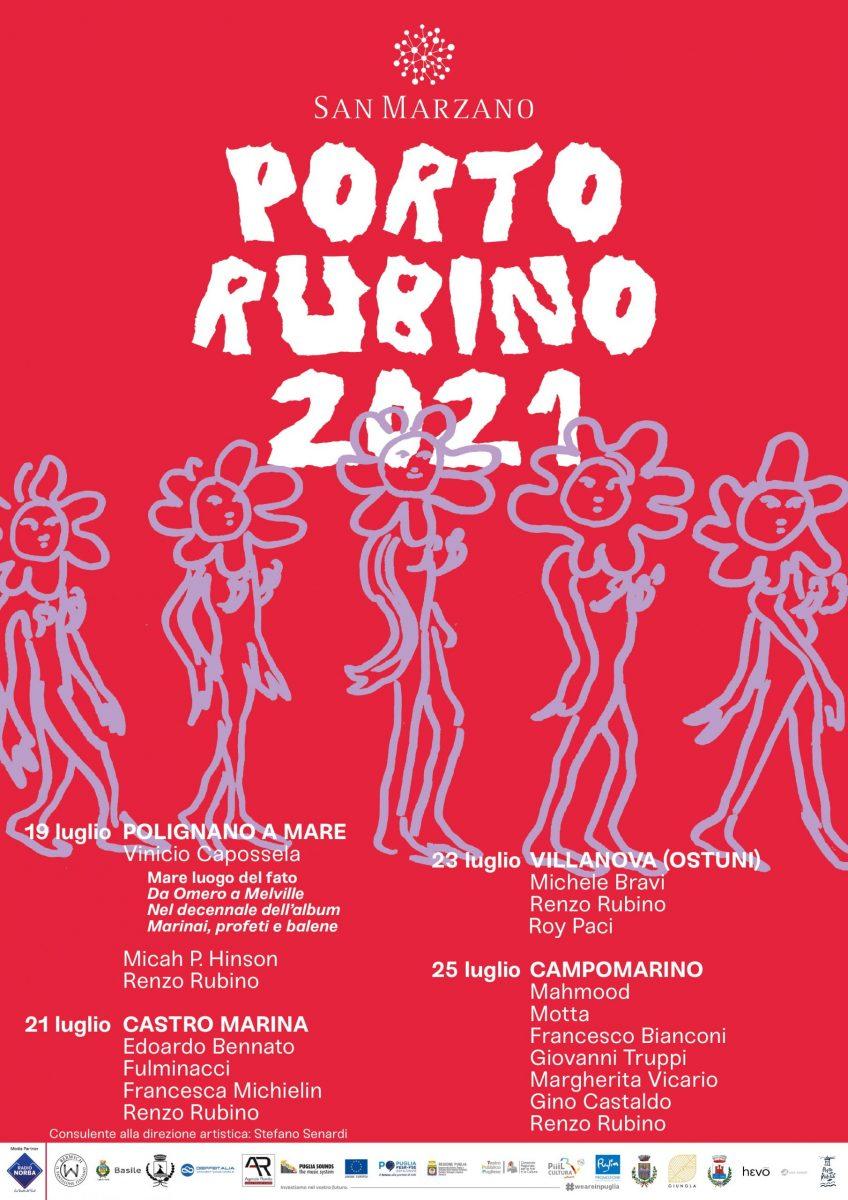 """""""Porto Rubino"""" Festival itinerante locandina"""